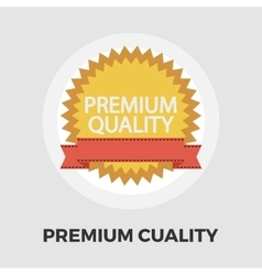 Premium Quality icon flat vector