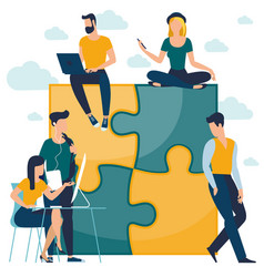 puzzle business concept vector image