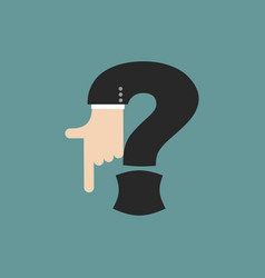 question mark businessman hand font it shows vector image