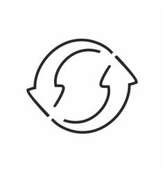 rerresh icon reload symbol vector image
