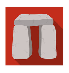 scottish stone monument icon in flat style vector image