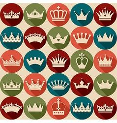 Seamlees crowns pattern vector
