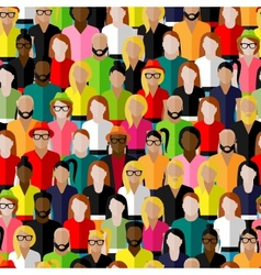 seamless pattern with a large group of men and vector image