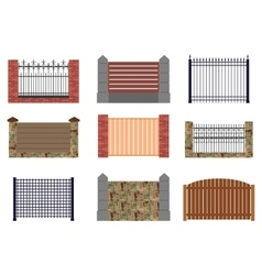Set of flat fences for infographics vector