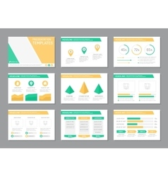 Set of green and yellow template for multipurpose vector