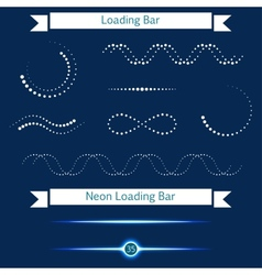 Set of modern loading bars on a dark background vector