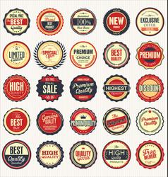 set retro vintage badges 2 vector image