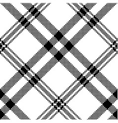 Simple black white check plaid seamless pattern vector