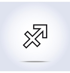 Simplistic sagittarius zodiac star sign vector image