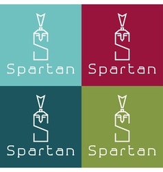 Spartan warrior monogram vector