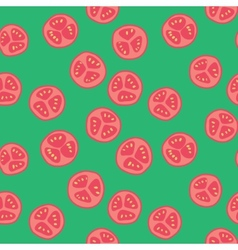 Stylized tomato pattern vector