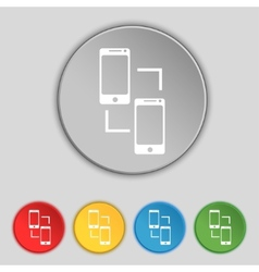 Synchronization sign icon smartphones sync symbol vector image