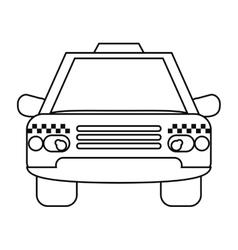 Taxi cab car public transport outline vector