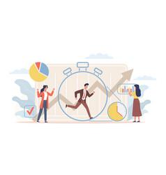 time management deadline workflow organization vector image