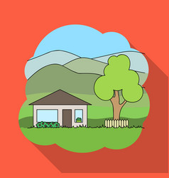Vacation homerealtor single icon in flat style vector