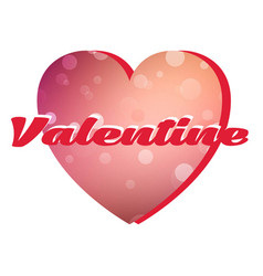 Valentine day pink heart image vector