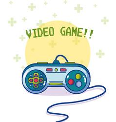 Videogame retro gamepad vector