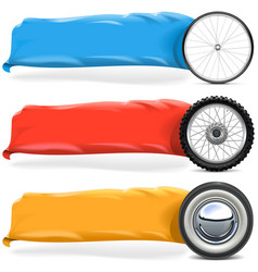 Wheels with Banner Set 2 vector