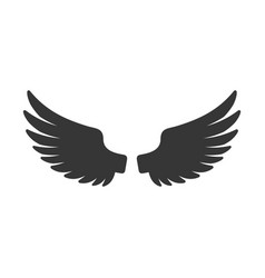 wing icon bird logo on white background vector image
