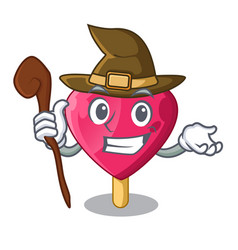 witch heart shaped ice cream the cartoon vector image