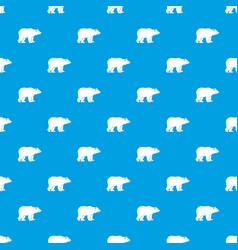 bear pattern seamless blue vector image