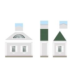 Building facade parts vector image