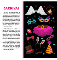 carnival party bright accessories on promotional vector image vector image