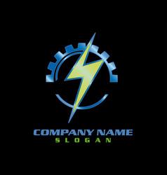 electrical logotype black background vector image