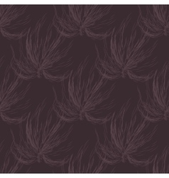 Hand drawn seamless black and white background vector image vector image