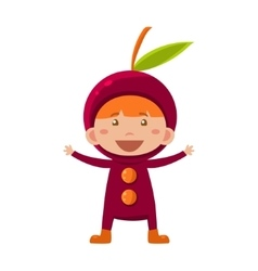 Kid In Cherry Costume vector image vector image