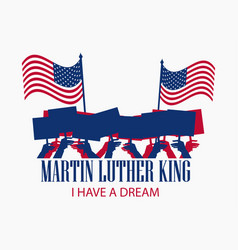 martin luther king day the hand holds the flag vector image