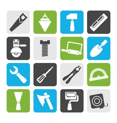 Flat Building and Construction Tools icons vector image vector image