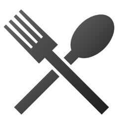 Fork and Spoon Gradient Icon vector image vector image