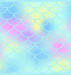 aqua fish scale seamless pattern magic vector image vector image