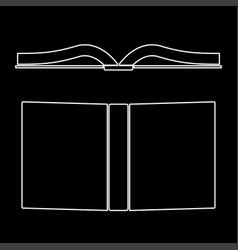book the white path icon vector image