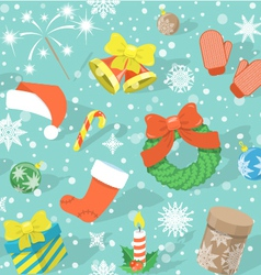 Colorful Christmas Pattern vector image vector image