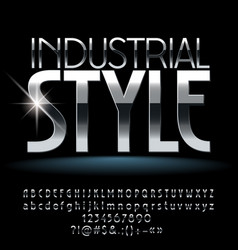 industrial style silver vector image