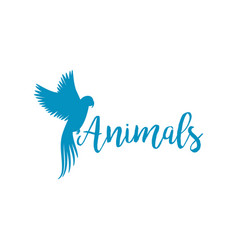 animals logo template with flying bird vector image vector image