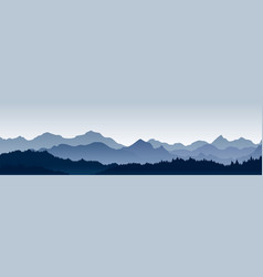 beautiful panoramic view vector image vector image