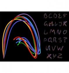 optical fiber alphabet vector image