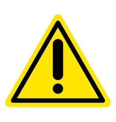 warning attention sign vector image