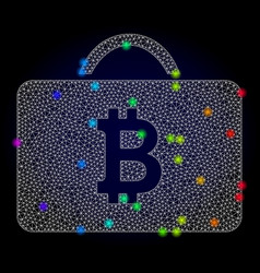 2d mesh bitcoin case with spectrum colored vector