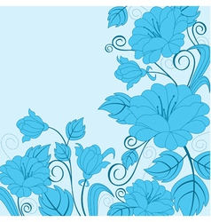 abstract flower background with decoration element vector image