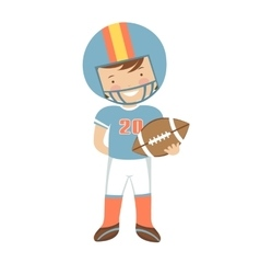 American football player character vector