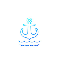anchor line icon on white vector image
