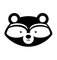 Animal raccoon cartoon vector