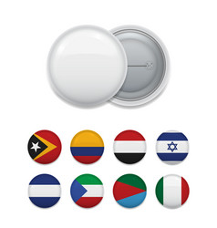 badge and countries flags in assortment vector image
