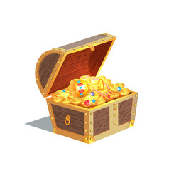Beautiful treasure chest card vector