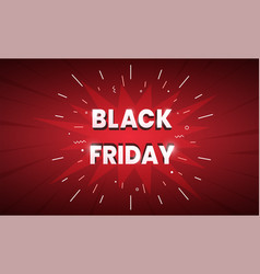black friday sale banner dark red background with vector image