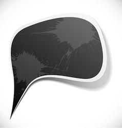 Black grunge speech label design vector image